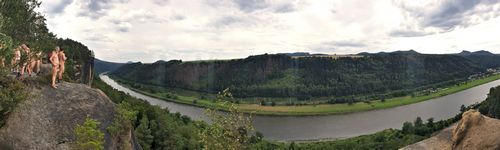 Panorama of hte Elbe River
